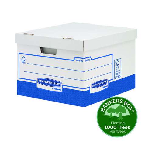 Fellowes Basics Storage Box Heavy Duty Large (Pack of 10) BB72106