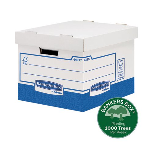 Fellowes Basics Heavy Duty Storage Box Standard (Pack of 10) BB72105