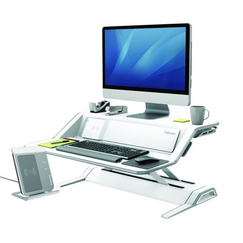 Fellowes Lotus DX Sit-Stand Workstation White 8081101