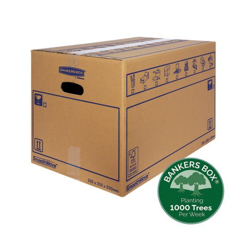 Bankers Box SmoothMove Standard Moving Box 350x350x550mm (Pack of 10) 6207301