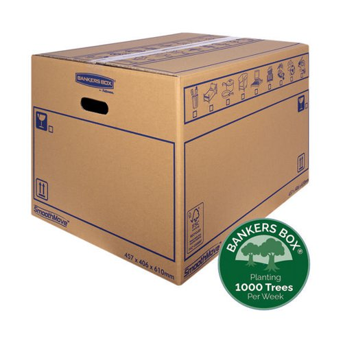 Bankers Box SmoothMove Standard Moving Box 460x410x610mm (Pack of 10) 6207501
