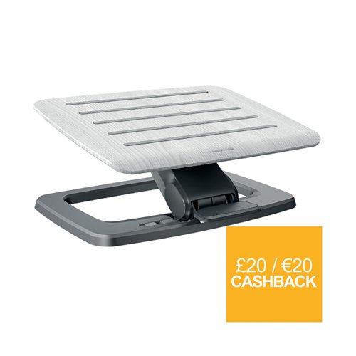 Fellowes Hana Foot Support Adjustable Grey 8055801