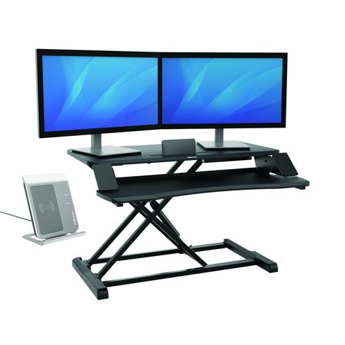 Fellowes Corsivo Sit Stand Workstation Black 8091001