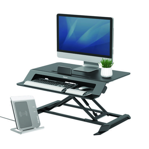 Fellowes Lotus LT Sit Stand Workstation 8215001 Black
