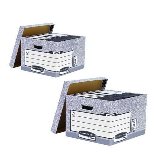 Bankers Large Storage Box Grey (Pack of 10) BB810538 BOGOF