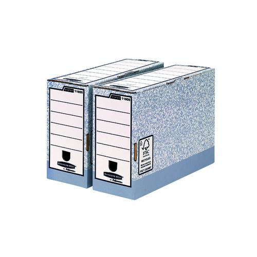 Fellowes Bankers Box T/ File 120mm FC Grey (Pack of 10) BOGOF