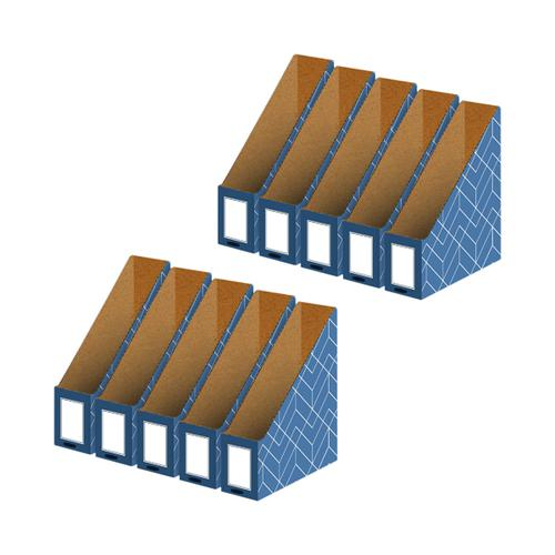 Bankers Box Magazine File Blue (Pack of 5) Buy 1 Get 1 Free 4484001