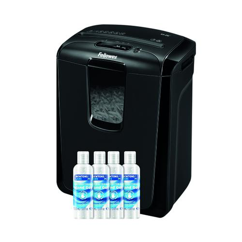 Fellowes M-8C Cross Cut Shredder FOC 4 Hand Gel