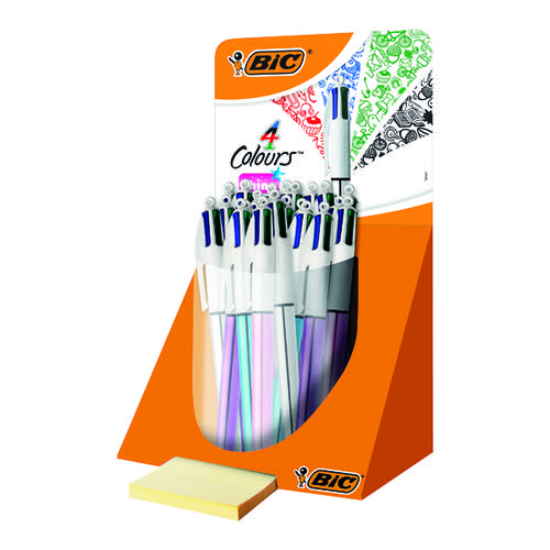 Bic 4 Colour Shine Pen Countertop Display (Pack of 20) 902128