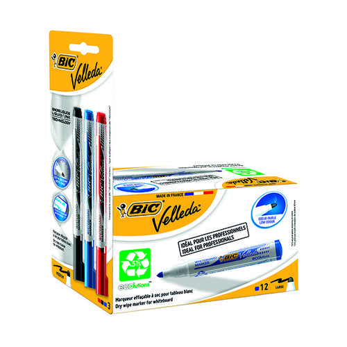 Velleda Drywipe Mrkr Bullet Blu (Pack of 15) 942235