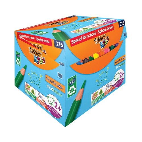 Bic Kids Eco Triangle Colouring Pencils Assorted (Pack of 216) 944077
