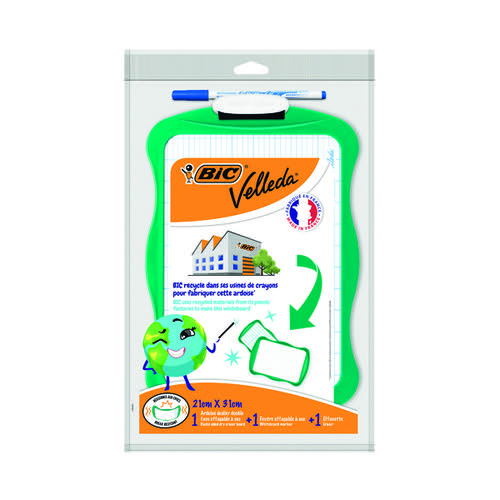 Bic Velleda Eco Board 210 x 310mm Green Frame Marker and Eraser 967261