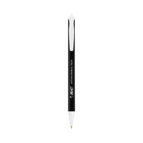Bic Clic Stic Antimicrobial Ballpoint Pen Black (Pack of 2) 5004654