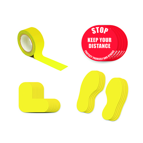 Social Distance Marker Kit Stop Keep Your Distance 2A SDKIT2A