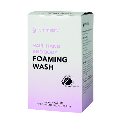 Symmetry Hair, Hand and Body Foaming Wash 1250ml (Pack of 6) B9007-1120