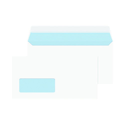 Blake PurelyEveryday Dl 100gsm Peel & Seal White Window Envelopes (Pack of 50) 23884/50PR