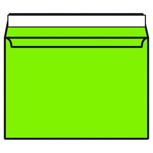 C4 Wallet Envelope Peel and Seal 120gsm Lime Green (Pack of 250) BLK93022