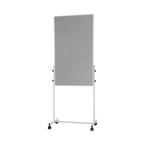 Bi-Office White Portable Duo Board and Flipchart Easel EA4724075