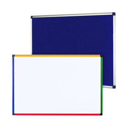 Felt Notice Board 1800x1200 Blue Foc Clear Magnetic Board BQ831373
