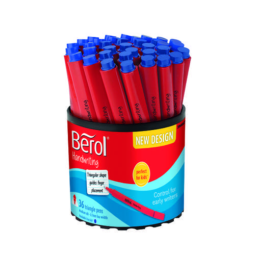 Berol Handwriting Triangular Pen Blue (Pack of 36) 2066667
