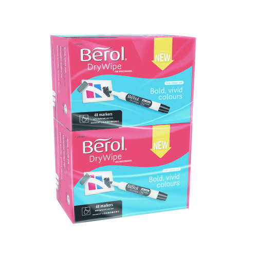 Berol Drywipe Marker Bullet Tip Assorted (Pack of 96) 1984869
