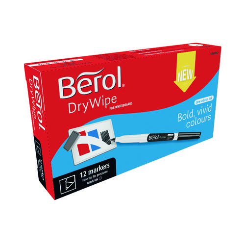 Berol Drywipe Pen Fine Black (Pack of 12) 1984901