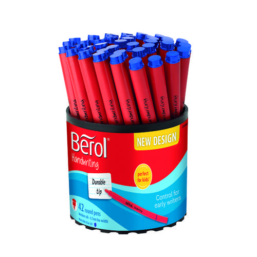 Berol Handwriting Pen Blue (Pack of 42) 2066665