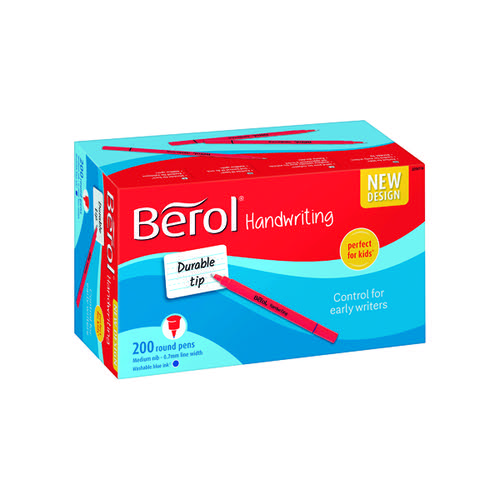 Berol Handwriting Pen Blue (Pack of 200) 2056779
