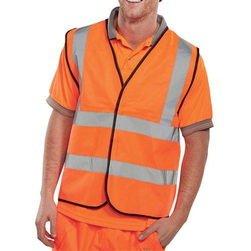 Hi-Viz Vest EN ISO20471 Orange Large WCENGORL