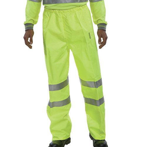 Hi Visibility Breathable Overtrousers Saturn Yellow Medium BITSYM