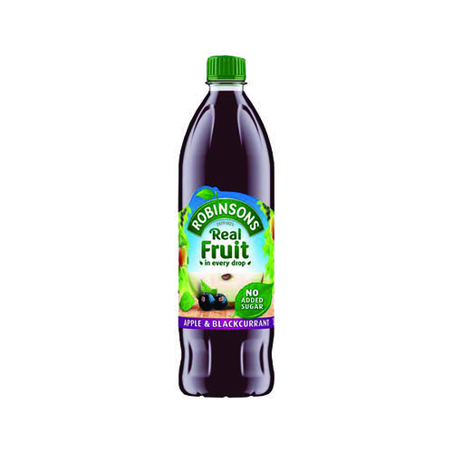 Robinsons Apple/Blackcurrant Squash No Added Sugar 1 Litre 402013