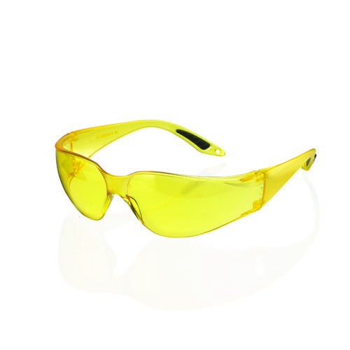 Vegas Safety Spectacles Wrap Around Yellow Lens BBVSS2Y
