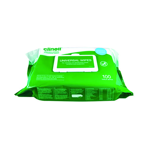 Clinell Universal Wipes BCW100 (Pack of 100) CM1907