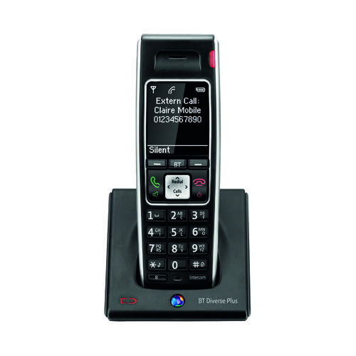BT Diverse 7400 Plus DECT Cordless Phone Black 44714