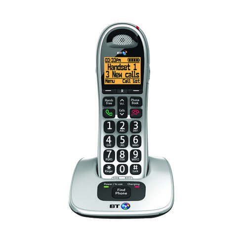 BT BT4000 Single Big Button DECT Cordless Phone Silver/Black 069264