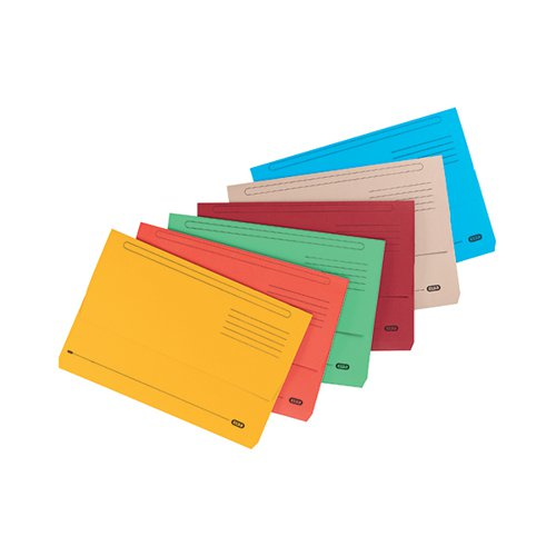 Elba Document Wallet Bright Manilla A4/Foolscap Assorted Small Pack of 10