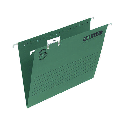 Elba Suspension File Foolscap Green (Pack of 50) 100331250