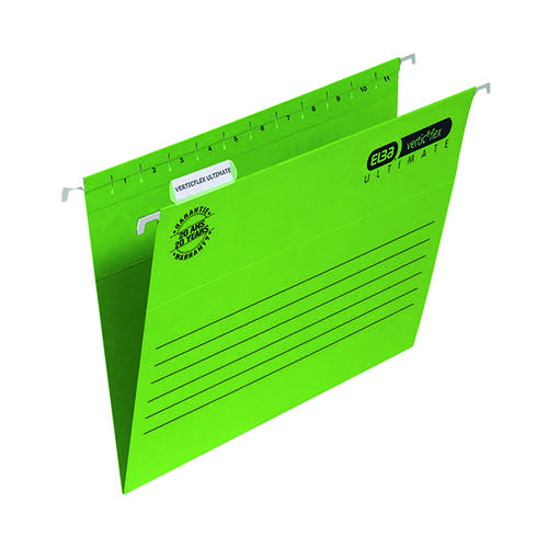 Elba Ulti Vert Suspension File Vbtm FC Green (Pack of 25) 100331170