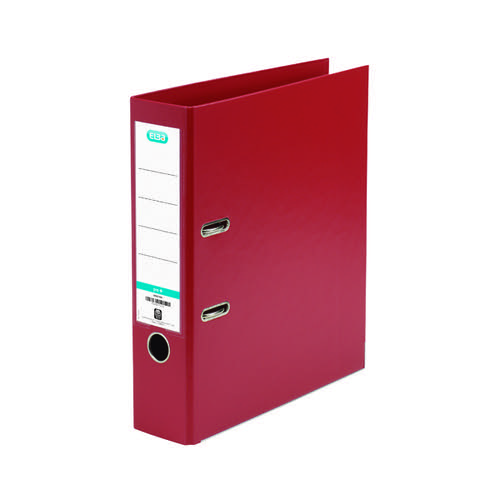 Elba 70mm Lever Arch File Plastic A4 Red 1450-09