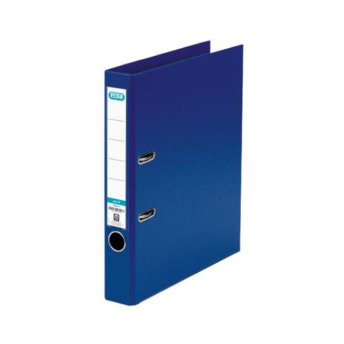 Elba 50mm Lever Arch File Plastic A4 Blue 1451-01