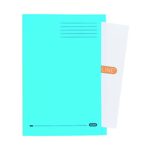 Elba Square Cut Folder Manilla Foolscap Blue (Pack of 50) 100090020