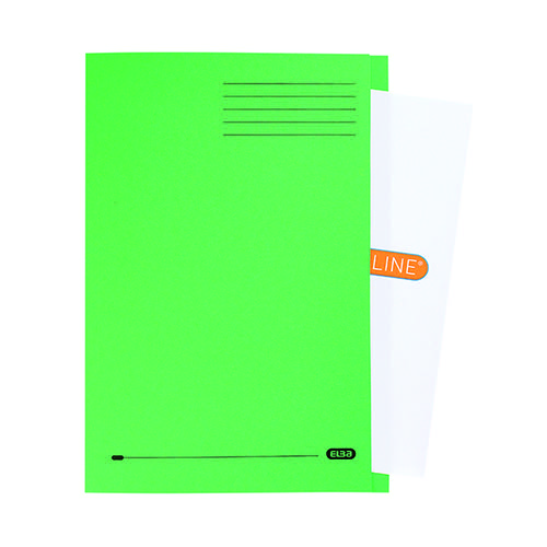 Elba Square Cut Folder Manilla 320gsm FC Green (Pack of 50) 100090022