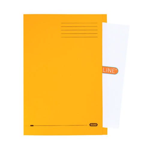 Elba Strongline Square Cut Folder Man FC Yellow (Pack of 50) 100090023