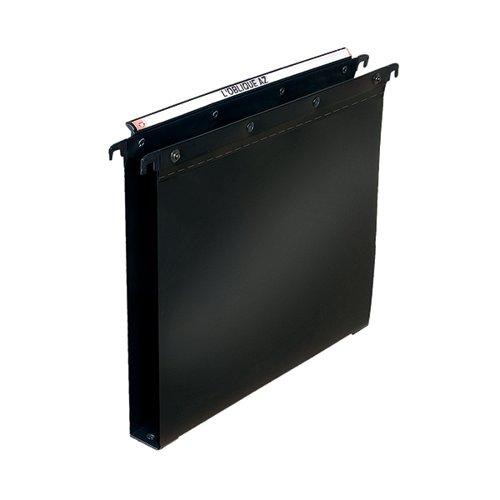 Elba Suspension File 30mm PP Foolscap Black (Pack of 25) 100330372