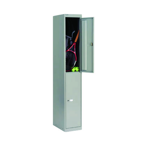 Bisley 2 Door Locker D457mm Goose Grey BY09216