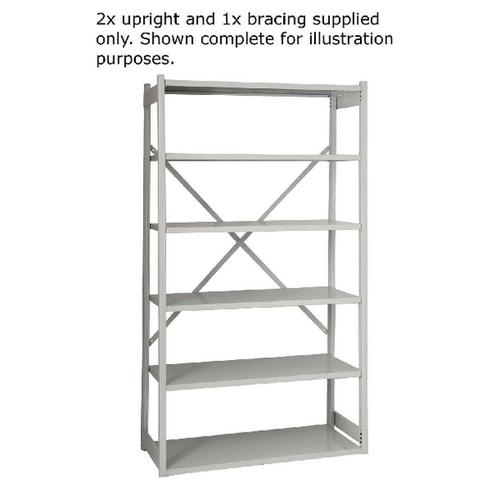 Bisley Shelving Starter Kit W1000xD460mm Grey 1018ESSTK46-AT4