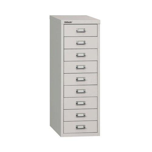 Bisley 9 Multidrawer Cabinet A4 290x420x860mm Grey H399NL-073