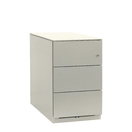 Bisley Note Pedestal Mobile 3 Stationery Drawers Chalk White BY20724