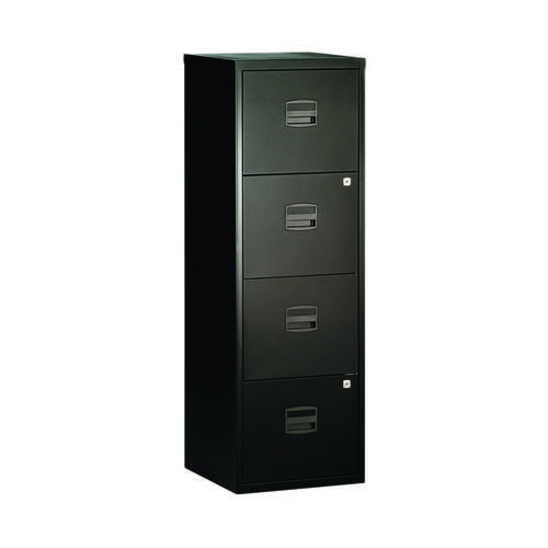 Bisley 4 Drawer A4 Home Filer Black BY31003