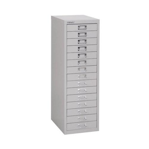 Bisley 15 Multidrawer Filing Cabinet A4290x420x870mm Grey H3915NL-073